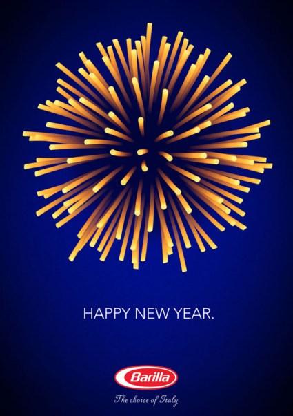 Barilla. Para este Año Nuevo, quiero tener mucha pasta