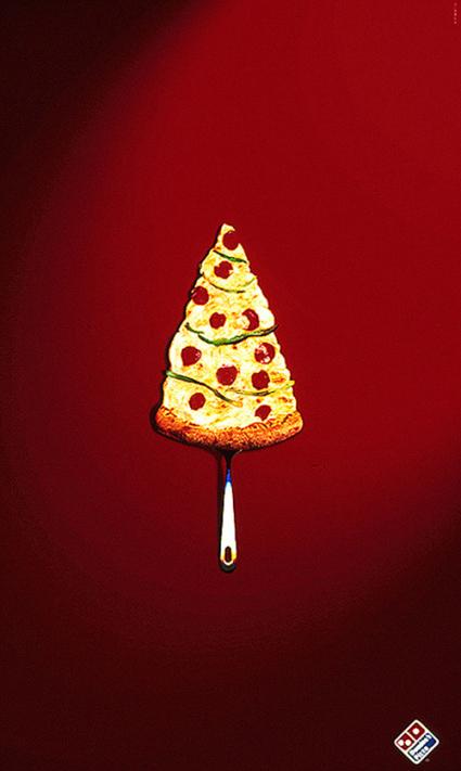 Dominos. Una pizza como la copa de un pino